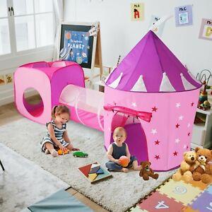 Kids 3pc Princess Castle Tent Tunnel Fun Toy Set, 3yr Gift, Portable FAST SHIP!!