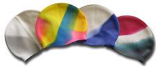 Multicolored Silicone Swim Cap / Swimming Hats