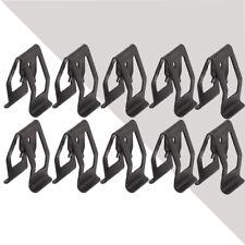 10* Car Interior Console Dash Dashboard Trim Metal Retainer Clip Universal Black
