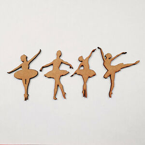 BALLERINA POSES craft decoration project colouring scrap booking MDF shapes