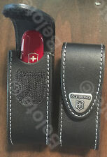 Victorinox Swiss Army Black Leather Pouch With Metal Clip 30252