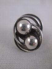 Vintage Kupittaan Kulta Mid Century Modernist Sterling Silver Ring 5 1/2 Finland