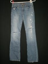 Abercrombie & Fitch Distressed/Broken In Blue Jeans Size 00 W:28 H:35 R:7 I:32.5