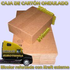 LOTE PACK 50 CAJAS CARTON B3 31X22X8cm KRAFT ONDULADO REFORZADO BICOLOR ENVIOS