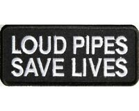 "LOUD PIPES SAVE LIVES MOTORCYCLE PATCH BIKER TRIKE 4"" x 1.75"" *"