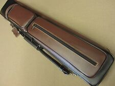 Instroke Soft 4x8 Leather Pool Cue Case Black / Burgundy w/ FREE Shipping