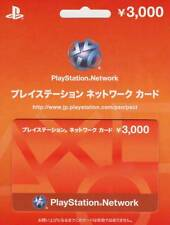 Play station carte réseau 3000 Yen Japon Japanese PSN PSP PS4 PSV Vita PS3 Boutique