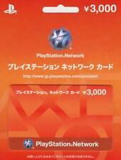 play station network card 3000 Yen japan japanese PSN PSP PS4 PSV VITA PS3 store