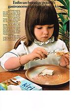 PUBLICITE  1969   KIRI   fromage pour les enfants