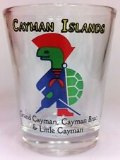 CAYMAN ISLANDS SIR TURTLE SHOT GLASS SHOTGLASS