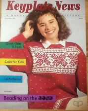 1987 Keyplate News # 13 Pattern Book Bond USM  Ultimate Sweater Machine knitting