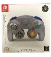 Nintendo Game Switch Wireless Gamecube Controller Super Smash Bros Silver