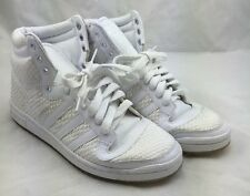 Adidas Men's Top Ten White Snake Skin Embossed High Top Sneaker size 9 A5