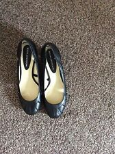 John Rocha Black Heeled Shoes New Size 5