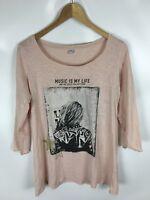 S. OLIVER Shirt, rosa, Größe 42, 100% Baumwolle