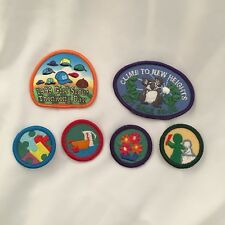 Lot Of 6 Vtg Girl Scout Badges Patches Nut Sale Thinking Day 1990s Art Cooking