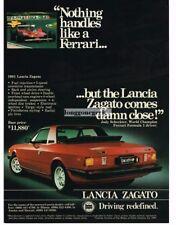 1981 Lancia Zagato Red Vintage Print Ad