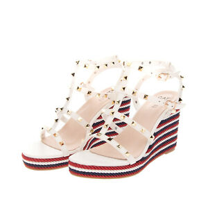 RRP €105 CAFFENERO Strappy Sandals Size 37 UK 4 US 7 Cage Design Studded Heel