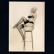 NEAR nude bionda spogliarellisti Girl/frivole spogliarellista * VINTAGE 50s HOT ad Photo PC