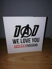 Happy birthday day dad avengers marvel we love 3000 infinity card Thor ironman
