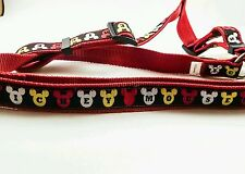 Mickey Mouse Dog Harness Size Large L Collar Rare Euc Works Great Free Shipping