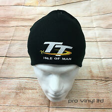 Isle of man tt broderie beanie chapeau d'hiver moto Superbike motorsport course