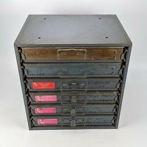 Durham 6 Drawer Parts Cabinet w/ Automotive Clips Screws Nuts