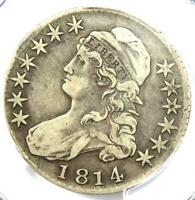 1814 Capped Bust Half Dollar 50C Coin O-103 - Certified PCGS VF20 - Rare Date!