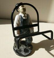 Vintage Collectables laurel Hardy Figure- Oliver Hardy  Bottle Holder Barware