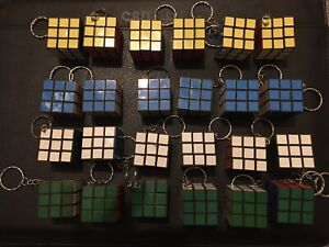 50x Rubik's Cube KeyRings 3x3 Toy Classic Puzzle Game