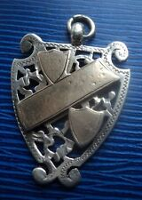 Silver & Gold Fob Medal / Pendant h/m 1898 William Hair Haseler - not engraved
