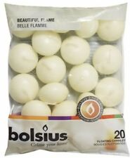 Bolsius 103632053705 Floating Candle, Paraffin Wax, Ivory Brand NEW