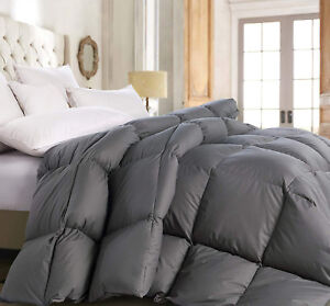 Deluxe 1200 TC Gray Down Alternative Comforter 100% Cotton, Down-like properties