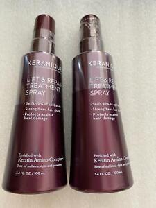 Set 2 Keranique Lift & Repair Treatment Spray Keratin Amino Complex Hair 3.4 oz