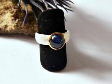 SCHMUCK-STCK RING Safir blau 925 Silber 18 56 NEU vergoldet Cabochon 58 18,5