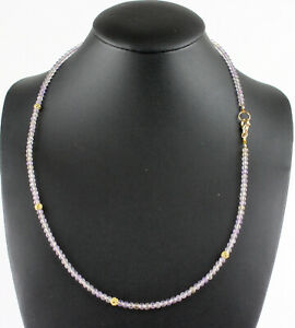 Ametrine Chain Gemstone Faceted Amethyst Citrine Facetted Necklace Ladies New