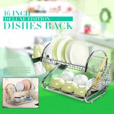 Geschirrtrokner Geschirr Abtropfregal Gestell Küche Wasserfilter Korb Halterung
