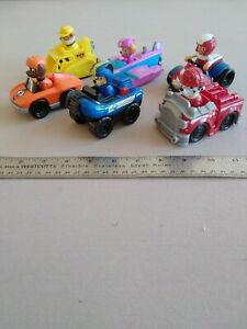 """Paw Patrol 4"""" Lot Of 6 Vehicles With Figures (A6)"""