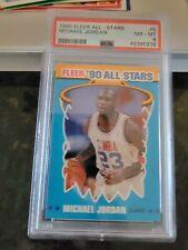 1990 Fleer MICHAEL JORDAN- ALL-STAR PSA 8 NM-MT! MJ STICKER  #5
