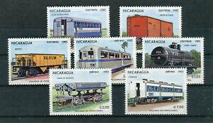 Nicaragua Mi.-Nr. 2387-2393 postfrisch Eisenbahn Thematik - b7355