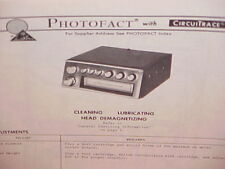 1977 PIONEER CAR AUTO 8-TRACK STEREO TAPE PLAYER SERVICE MANUAL MODEL TP-727E