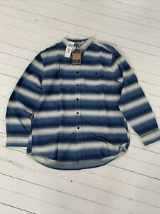 Pendleton Preston Stripe Shirt XL Blue New With Tags 100% Authentic Relaxed Fit