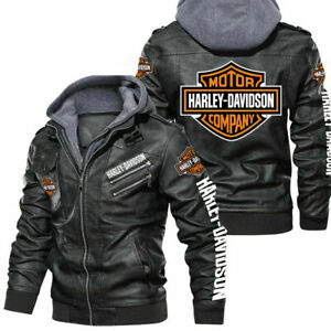 Harley-Davidson - Faux Leather Jacket, So Cool-So Unique for Gift