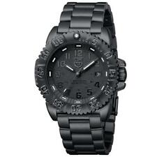 Luminox XS.3152.BO.NV Navy Seal Blackout Dive PVC Steel Bright Night Vision New!