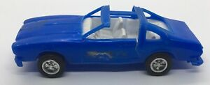 Vintage 1974,'75,'76,'77,'78 Style Blue Plastic FORD MUSTANG II T-TOP CAR