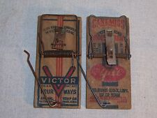 Vintage McGill & Animal Trap Co. Mouse Traps Cant Miss Victor Four Ways