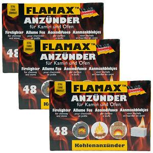 Grillanzünder FLAMAX 3 x 48 Würfel weiß Sommer BBQ Grill weiße Grillanzünder