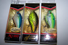 "Fishing lures lot of 3, XCALIBUR  ""XCS100"" CRANKBAITS  Bass, Trout, Barra, Cod"