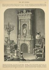 ANTIQUE SWEDISH SWEDEN URN CHAIR FURNITURE ART DESIGN CANDELABRA FIREPLACE PRINT