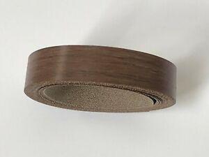 Amati Walnut Edging Tape, 5m x 22mm, Pre-Glued Iron On